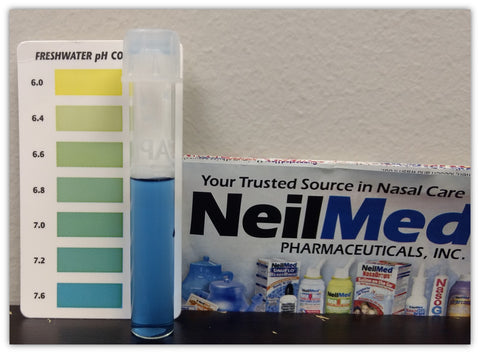 Nasal pH of saline spray and nasal gel results in less stinging and