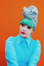 Tinsel Top knot Turban