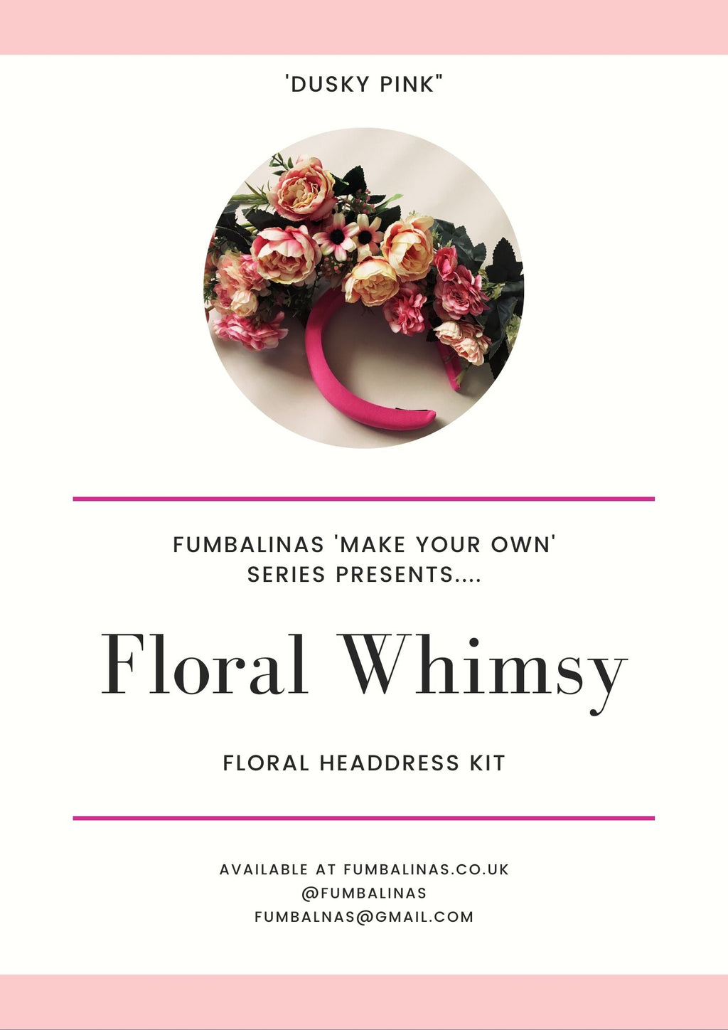 """Floral Whimsy"" 'Dusky Pinks' Vintage Floral Headdress and Tutorial"