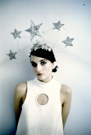 Vintage inspired silver star headdress