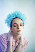 Blue Vintage inspired ruffle Pastel Headpiece