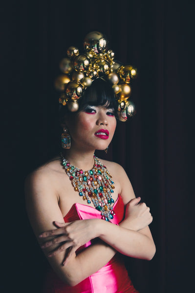 Gold Bauble Headdress Style 2