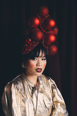 Red Christmas Bauble Headpiece