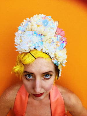 Pastel iridescent Flower headdress