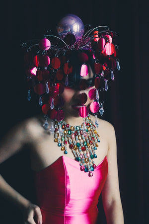 Dripping Sequins and Jewels Headdress