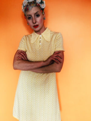 Yellow 60s mod Shift Dress