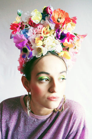 Multicoloured flower crown