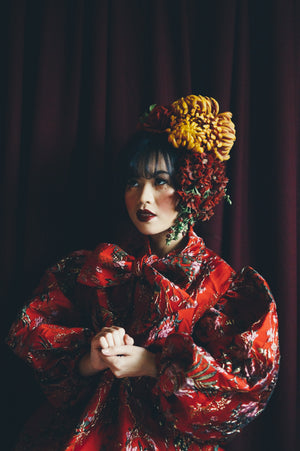 Vintage flower autumnal Headdress