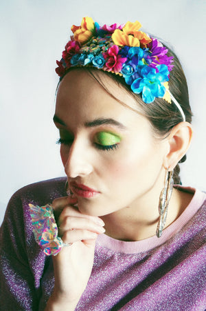 Princess flower crown with Vintage Jewels