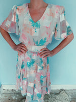 80s pastel pink dress - size small / 8