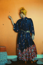 Vintage long geisha one size multicoloured dress