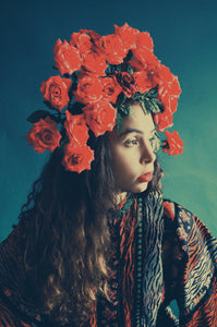 Red Roses Headdress