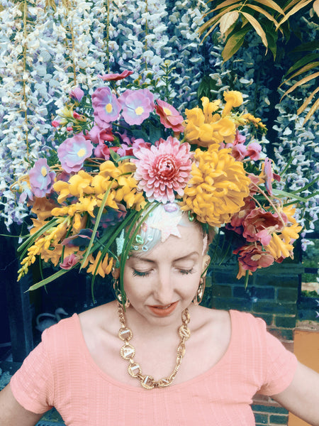 Wild flower crown / flower headband / headpiece