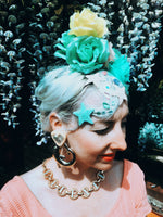 Pastel Roses flower headband / headpiece