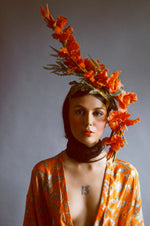 Beautiful orange Ascot flower Crown