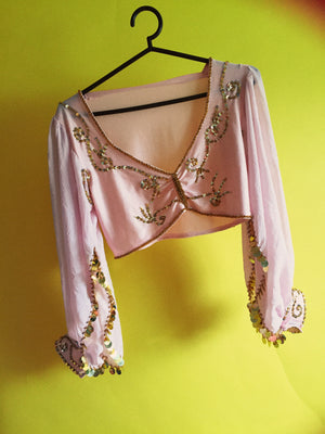 Pink and gold sequin Belly Dancer Top - costume - carnival - festival