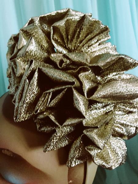 Platinum Metallic Lame Ruffle Party Headband