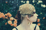 Gold Beaded skull cap headdress