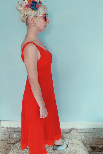 Red vintage dress / negligee / lingerie