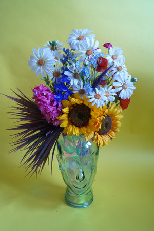 Multi coloured floral Summer Sunflower Festival Costume Headdress