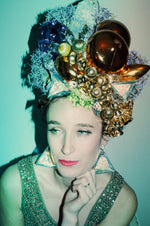 Gold Crown Headdress - headpiece - Costume - Burlesque
