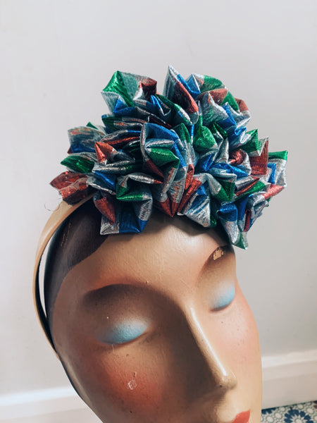 Lame Ruffle Party Headband