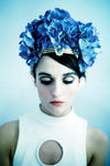 Blue Hydrangea jewelled crown
