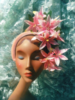 Pale Pink Lily flower headband