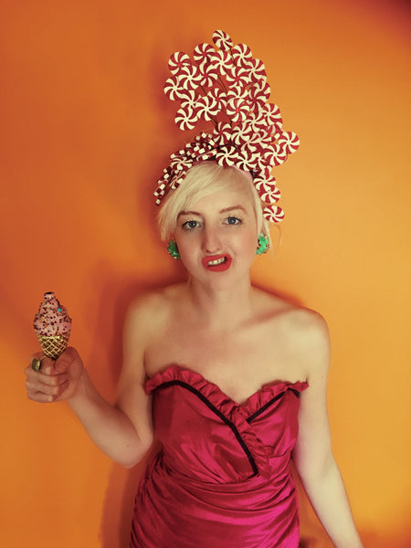 Candy Cane Lollipop headdress