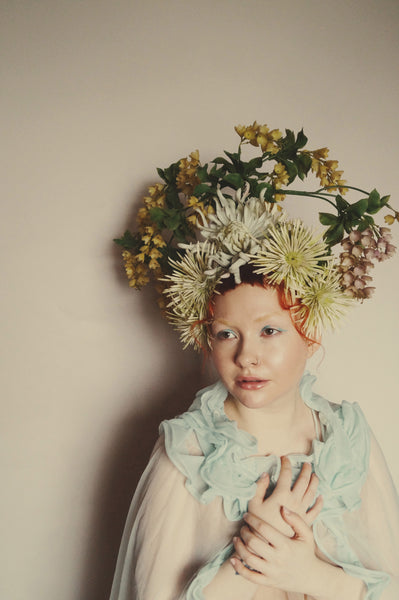 Flower Crown, Headdress, Spring, Pagan, may Queen, Blossom