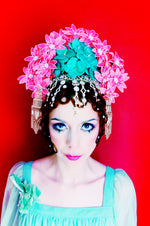 Oriental inspired bejewelled headdress
