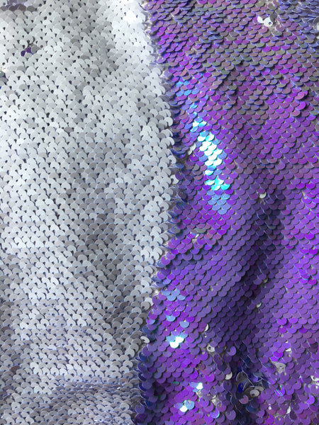 *LIMITED EDITION* Iridescent Lilac and White Sequin Turban
