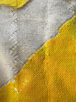 *LIMITED EDITION* Yellow iridescent / White Matte Sequin Turban