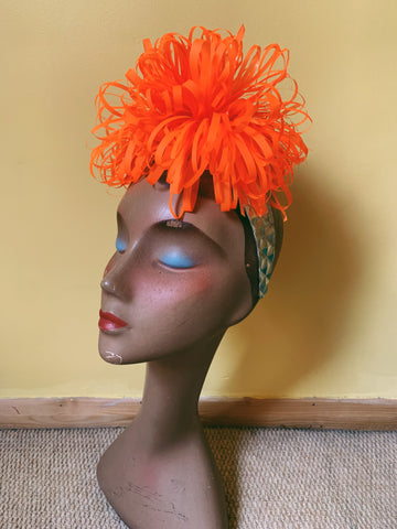 orange ruffle headband