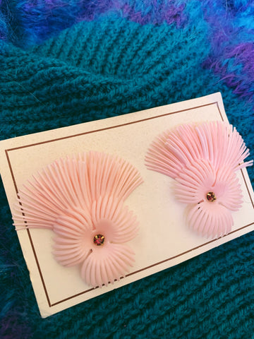 Copy of vintage 50s earrings - pink