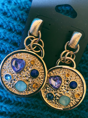 gold jewelled asos earrings - never worn.