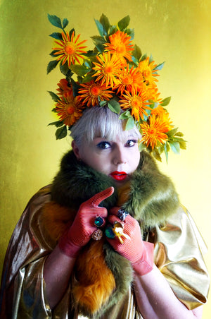 Orange Tropical Carmen / Priscilla Headpiece