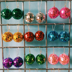 Coloured Disco ball Earrings!  Christmas, Party NYE