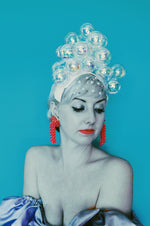 Bubbles iridescent headdress / crown / headpiece
