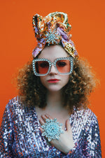 STYLE 1: Sequin Top Knot Turban