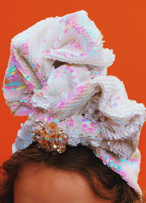 Style 1 Top Knot : Sequin Turban