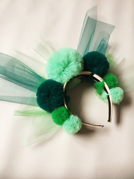 Make Your Own: Tulle Pom Pom Headband and Tutorial