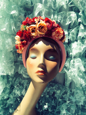 """Floral Whimsy"" 'Plum Pink and Cream' Vintage Floral Headdress Kit and Tutorial"