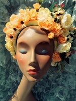 """Floral Whimsy"" 'Peaches and Cream"" Vintage Floral Headdress Kit and Tutorial"