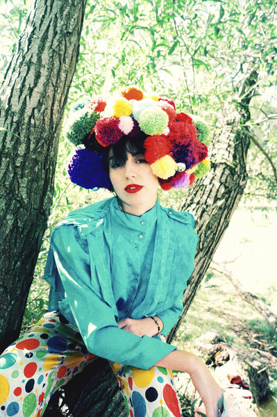 Giant Pom pom Wig / Headpiece