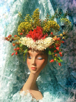 Vintage floral Flower Headdress - Berries, Rosehips,