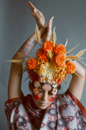 Tribal wild flower Crown Burning man Festival Headdress