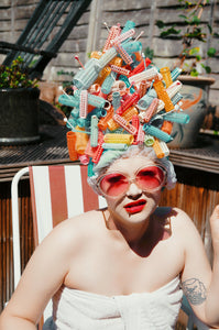 Vintage Rollers Nora Batty Headdpiece