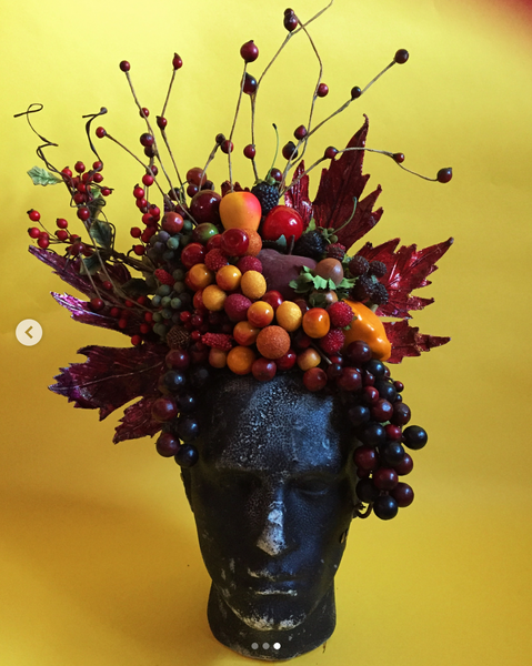 Multi coloured berries and leaves Autumnal Headdress