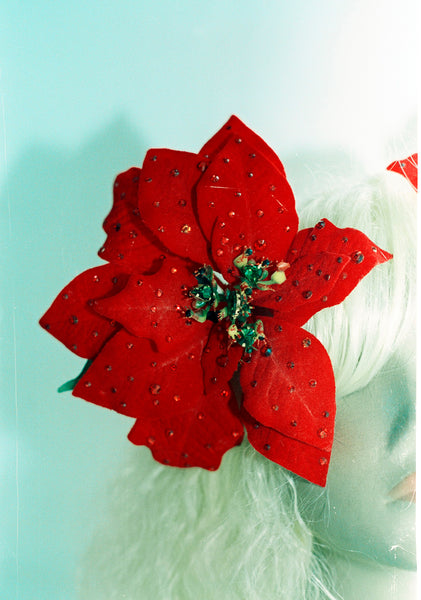 Jewelled Poinsettia Hair Clip *Order before 18th for Christmas post*